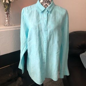 100% Linen Blouse by Willi Smith